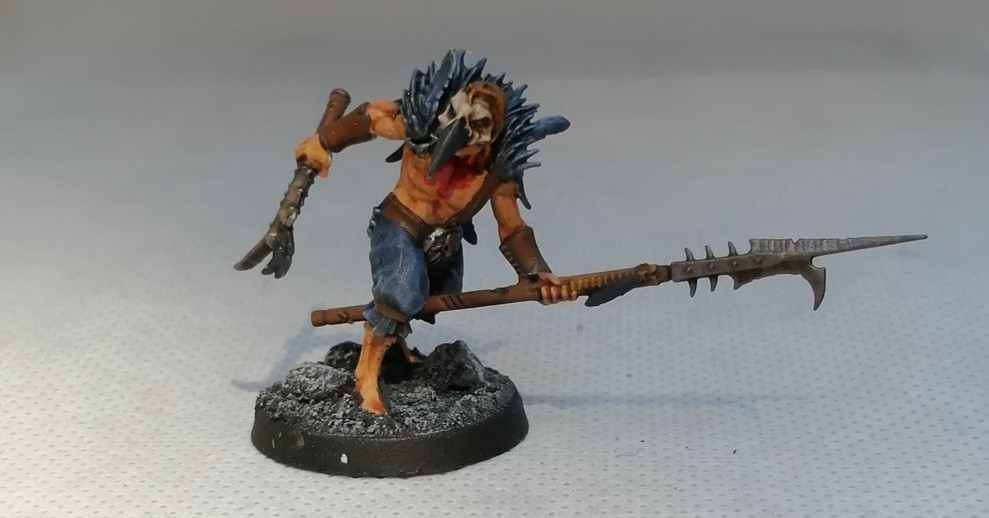 Painted Cabalist Spearman for Warcry -Corvus Cabal by Games Workshop