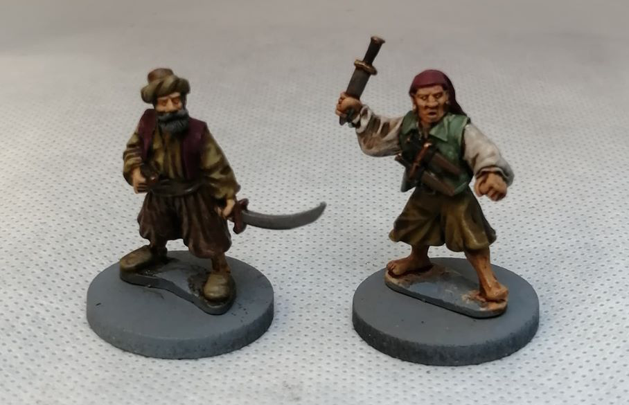 Some 25mm / 28mm swashbuckling miniatures.