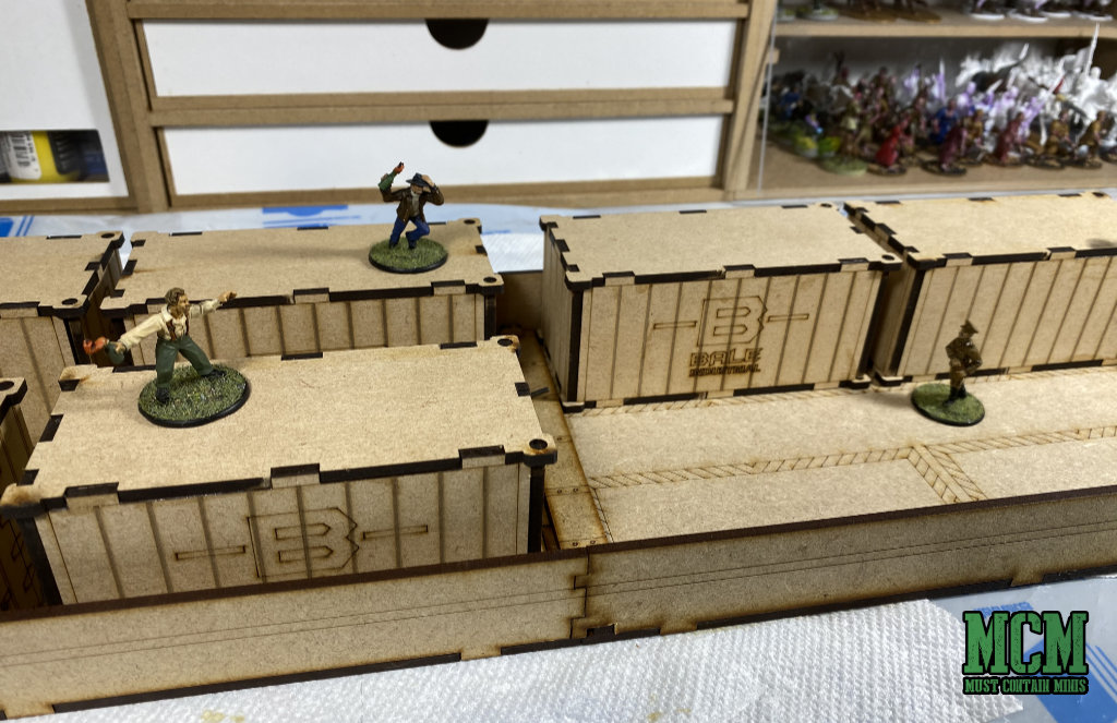 TT Combat MDF Terrain Review - Intermodal Containers from the City Streets Collection