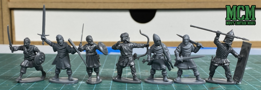 Wargames Atlantic Afghan Warriors Review - Scale Comparison of Persians, Afghans and Oathmark Miniatures