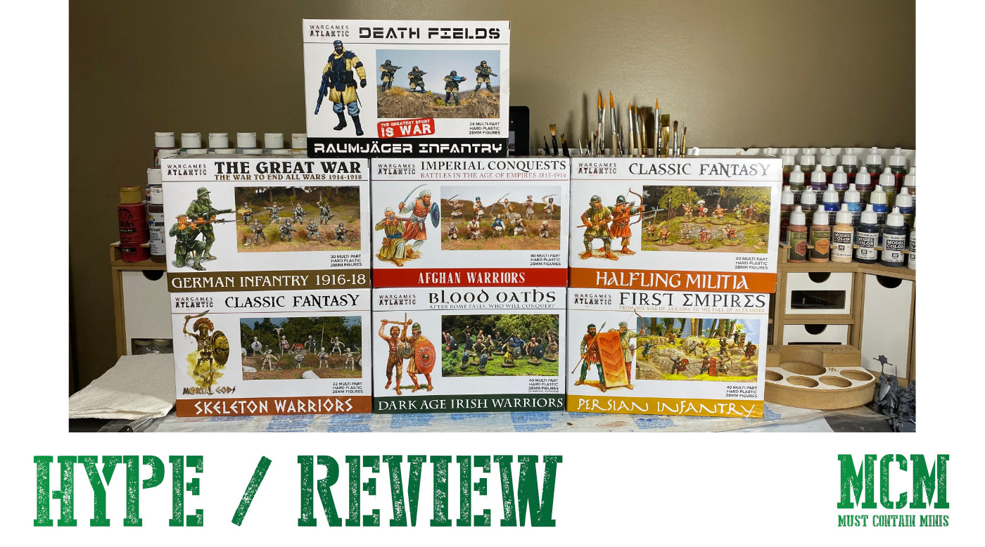 Wargames Atlantic Miniatures delivery for review