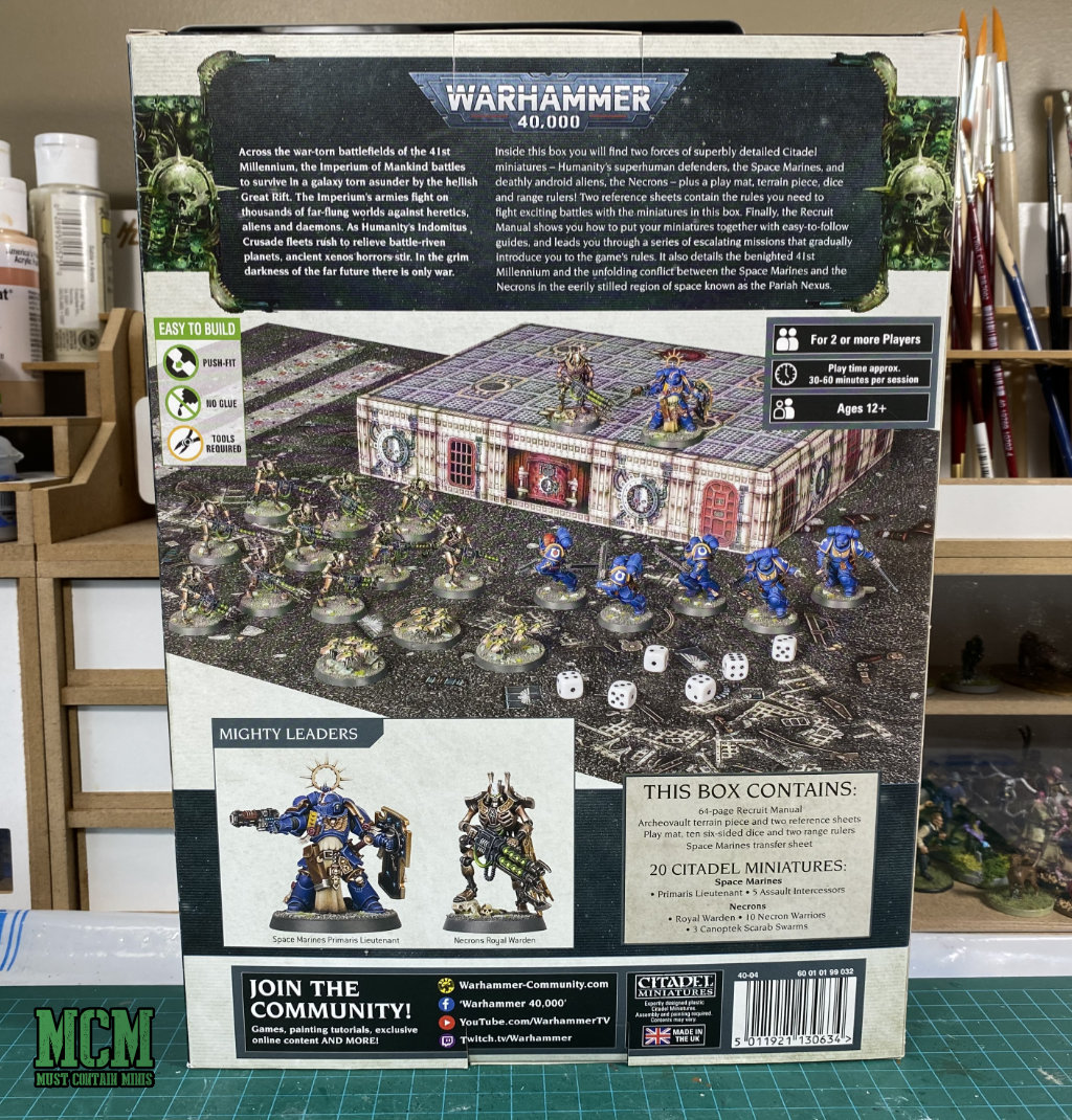 Buying into the new 40K - Warhammer 40000 Recruit Edition Starter Set - Back of the Box