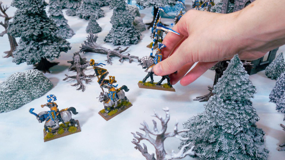 Ice Wilds Terrain for 28mm to 35mm gaming - Warhammer and Historical Wargaming on a Winter Terrain tabletop