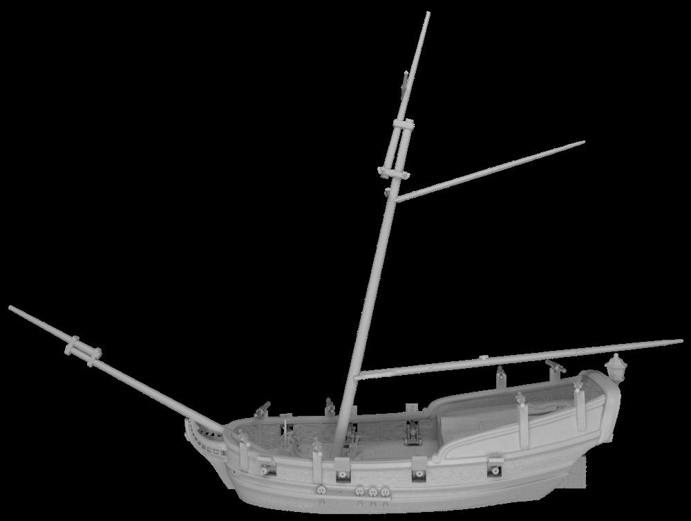 Blood & Plunder Miniature News - Sample Images of new ship for Kickstarter