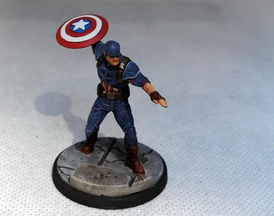 Crisis Protocol Painted Miniatures - Captain America