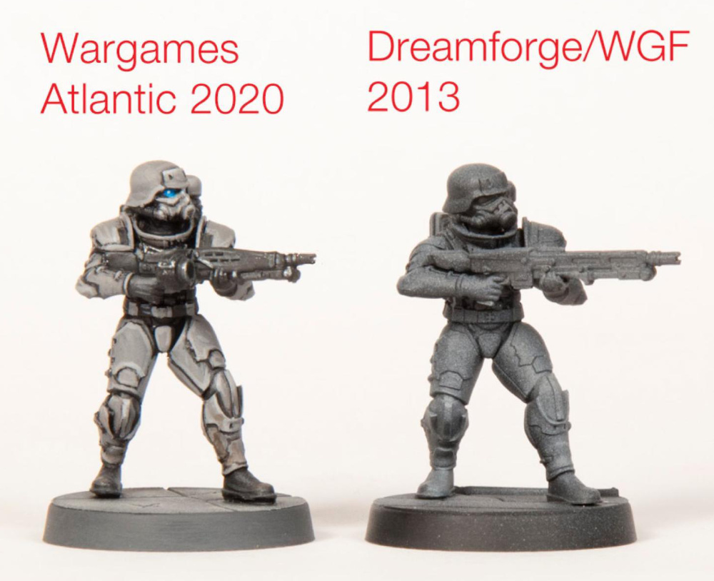 Eisenkern Models Wargames Atlantic versus Dreamforge Model Changes