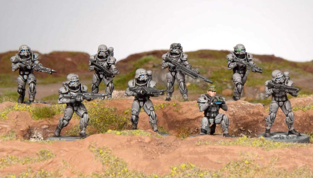 Eisenkern Stormtroopers on hills