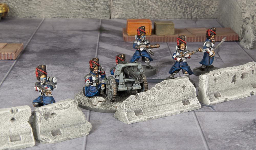 Proxy Imperial Guards for 40K and other games. Grognard Heavy Weapons Teams.