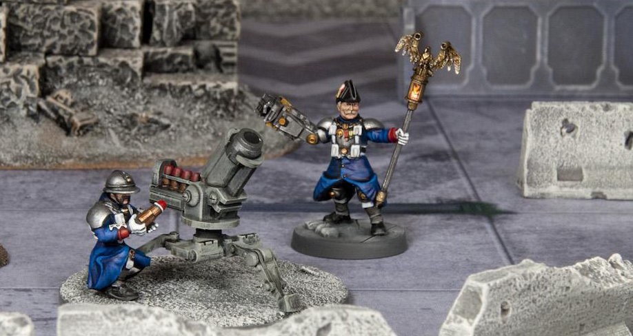 Grognard Heavy Weapons - Mortar Team for 28mm sci-fi gaming
