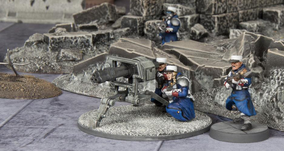 Grognard Heavy Weapons - Tri-barreled Weapon Team