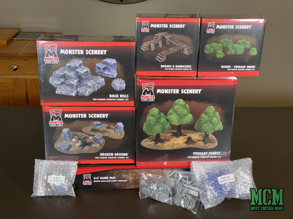 Monster Fight Club Monster Scenery Terrain Review - Initial Thoughts