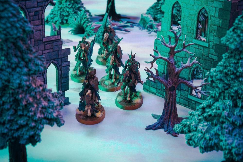 Age of Sigmar on Ice Wilds Gaming Terrain - Winger Gaming Tabletop by Monster Fight Club