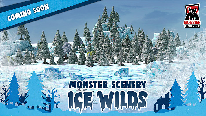 Monster Fight Club Going to Kickstarter with Monster Scenery Ice Wilds
