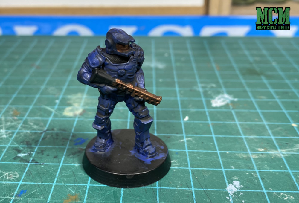 Painting a Legions of Steel Miniature - Shading the miniature