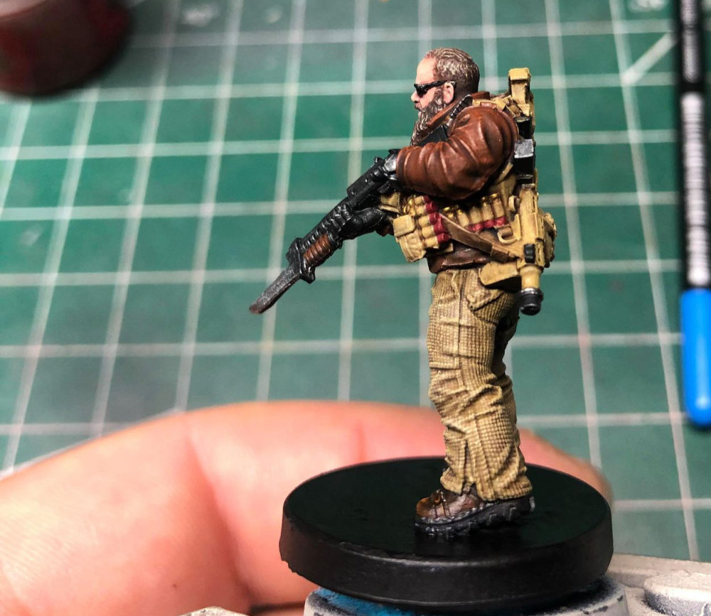 Miniature of a doomsday prepper / zombie survivalist