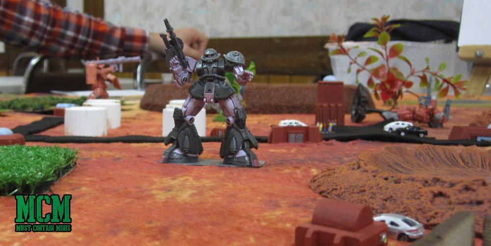 Gundam style toy mechs