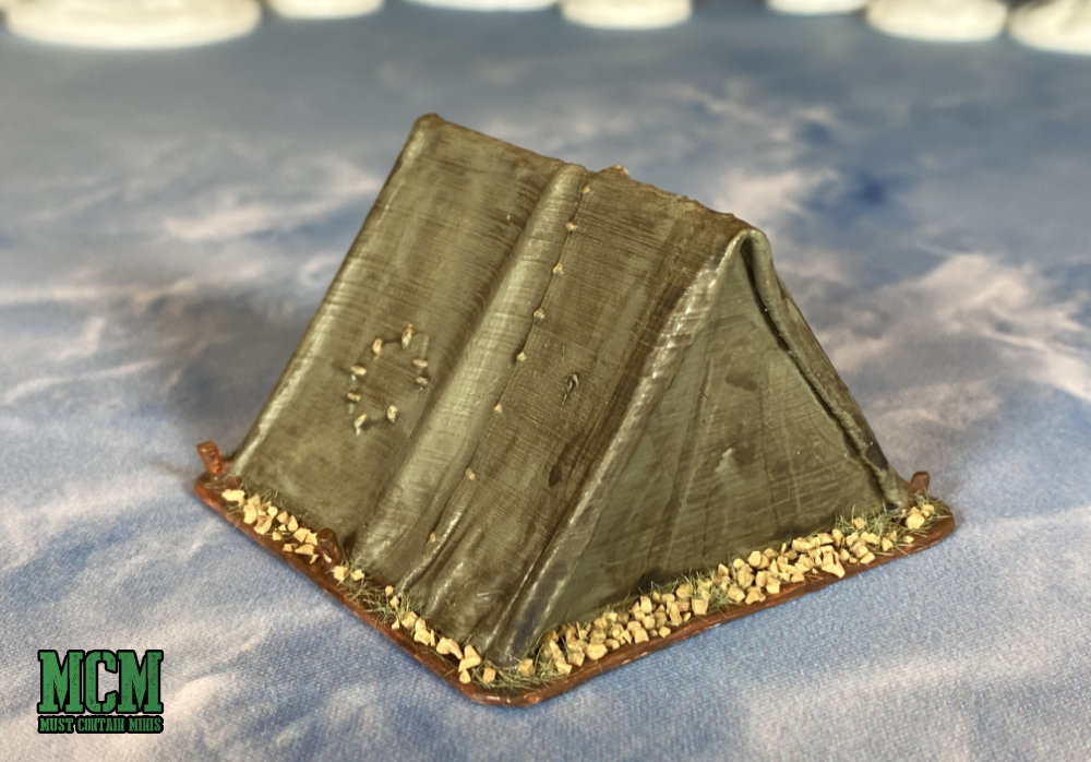 A tent for 28mm to 35mm miniature skirmish gaming