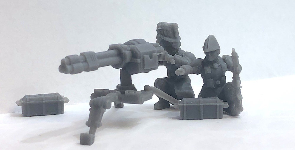 3D Printed Preview Picture of a Wargames Atlantic model set.