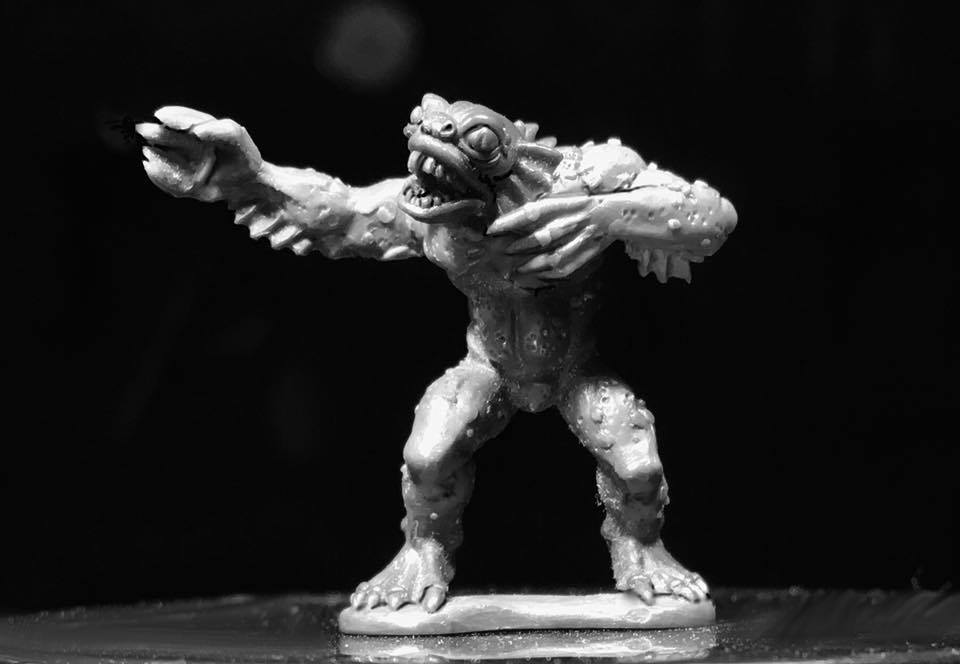 Deep Ones 28mm Miniature. Adaro for Black Sun by Crucible Crush