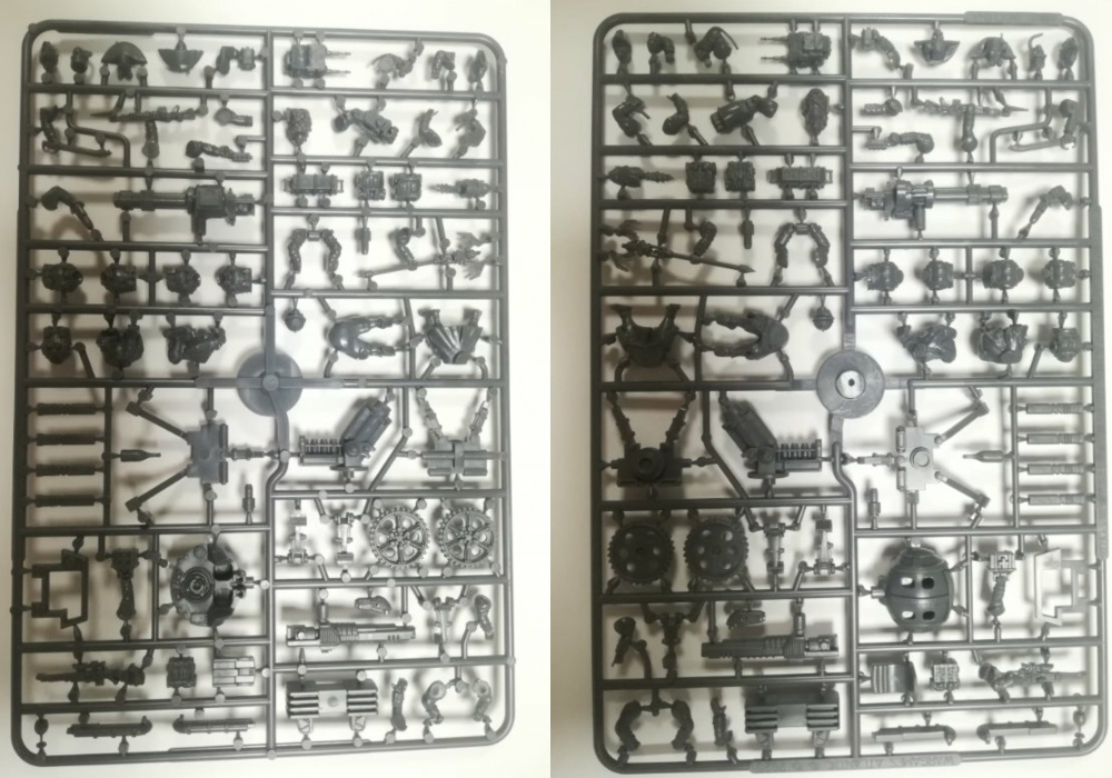 Sprue or Plastic Frame of Wargames Atlantic Grognard Heavy Weapons and Support miniatures.