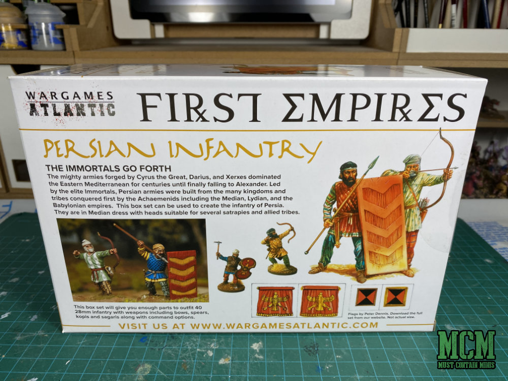 First Empires Persian Infantry Review of 28mm miniatures by Wargames Atlantic