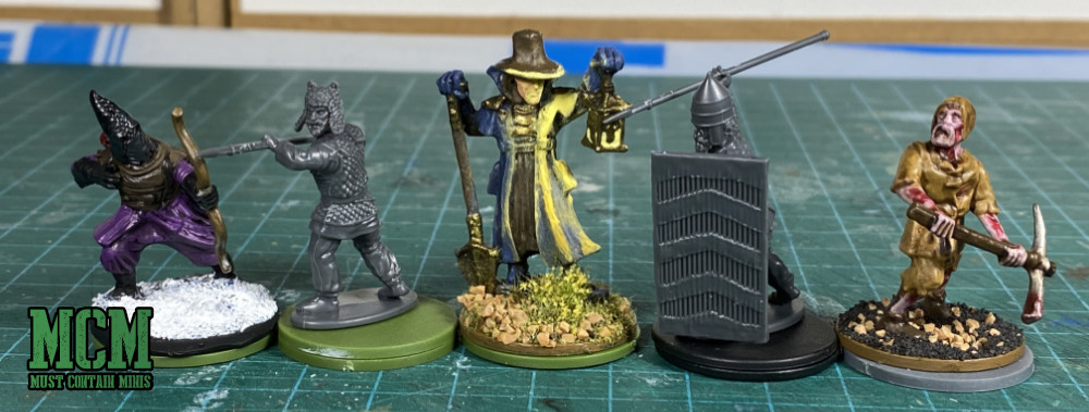 Persian Infantry Review - Scale Comparison - Wargames Atlantic, Reaper Miniatures, Fireforge Games and Frostgrave.