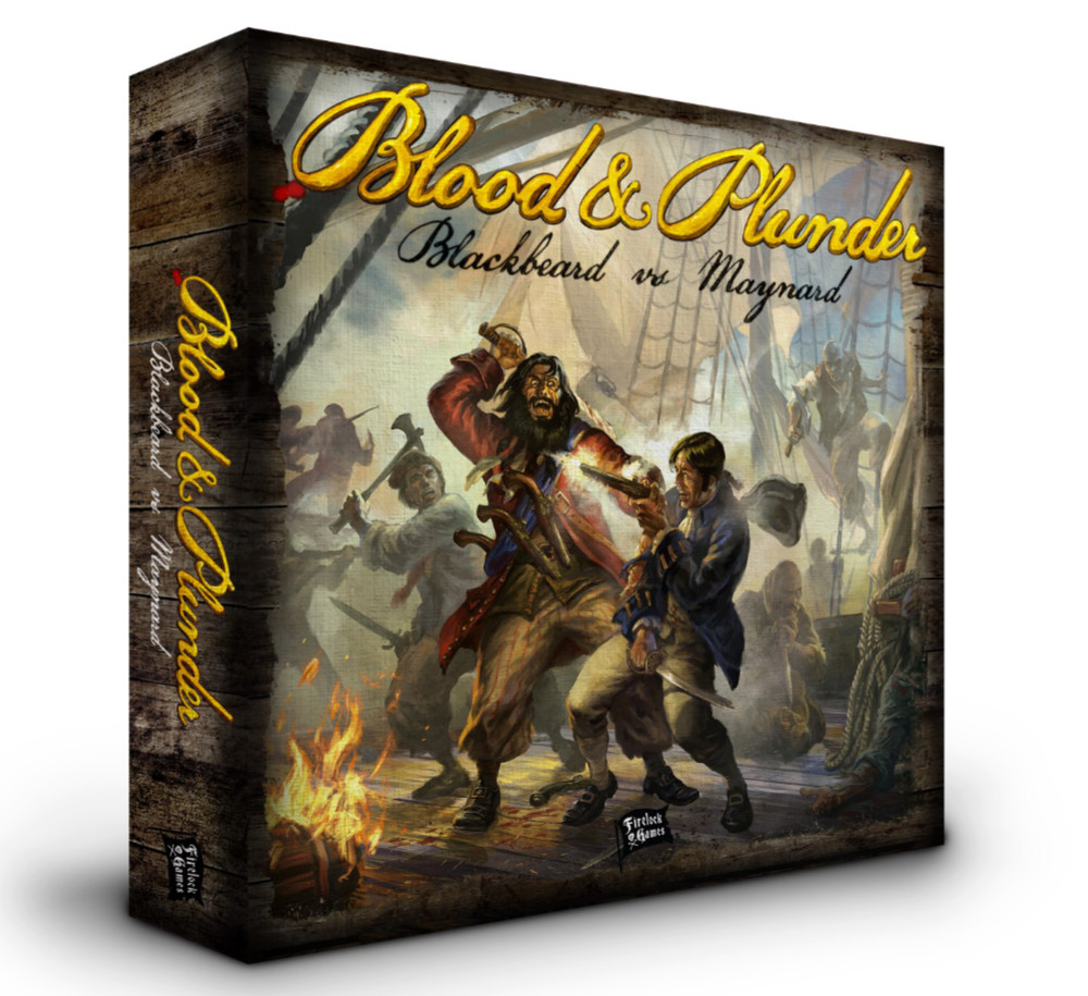 Blood and Plunder - Blackbeard vs Maynard 2 player starter set box art
