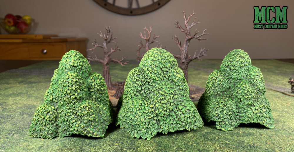 Using Tree tops as bushes for wargaming terrain
