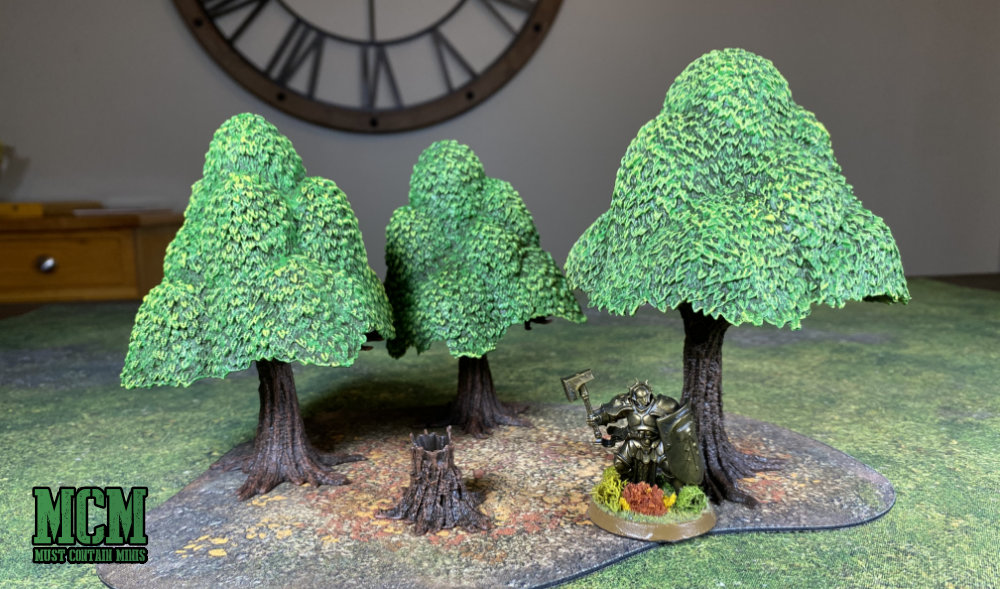 Monster Scenery Verdant Forest miniature wargaming terrain review - Age of Sigmar mini for scale purposes.