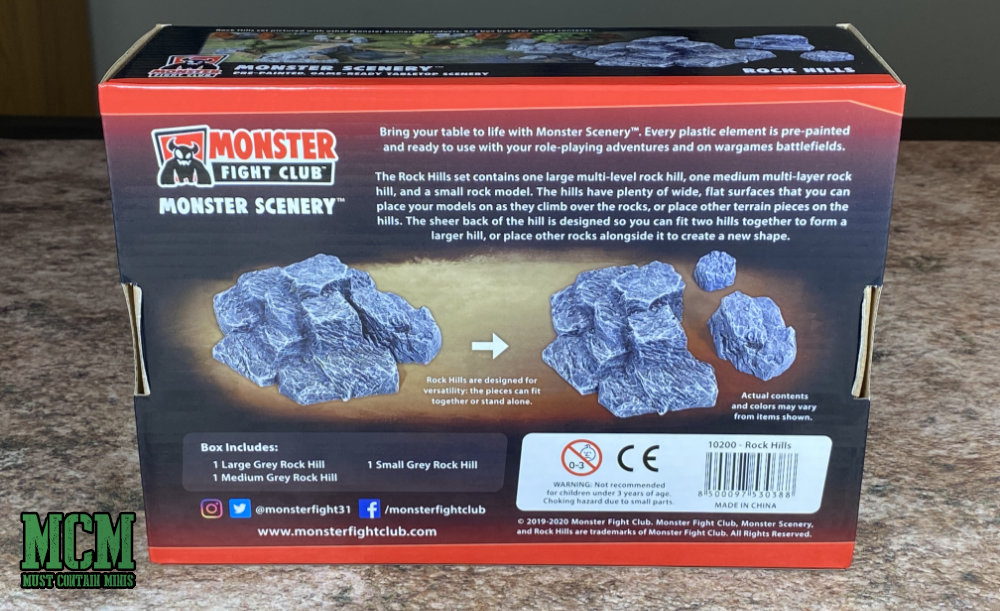 Packaging of Monster Scenery: Rock Hills