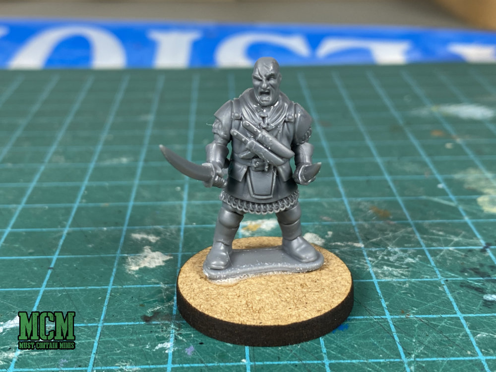 A 28mm blade master miniature