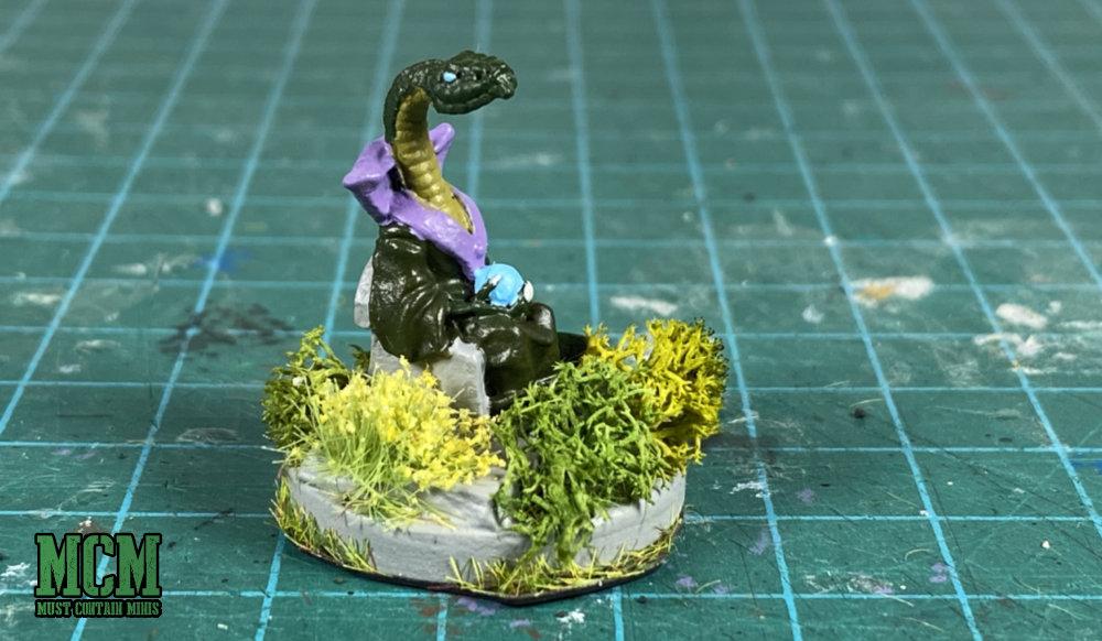 A snake wizard 28mm miniature