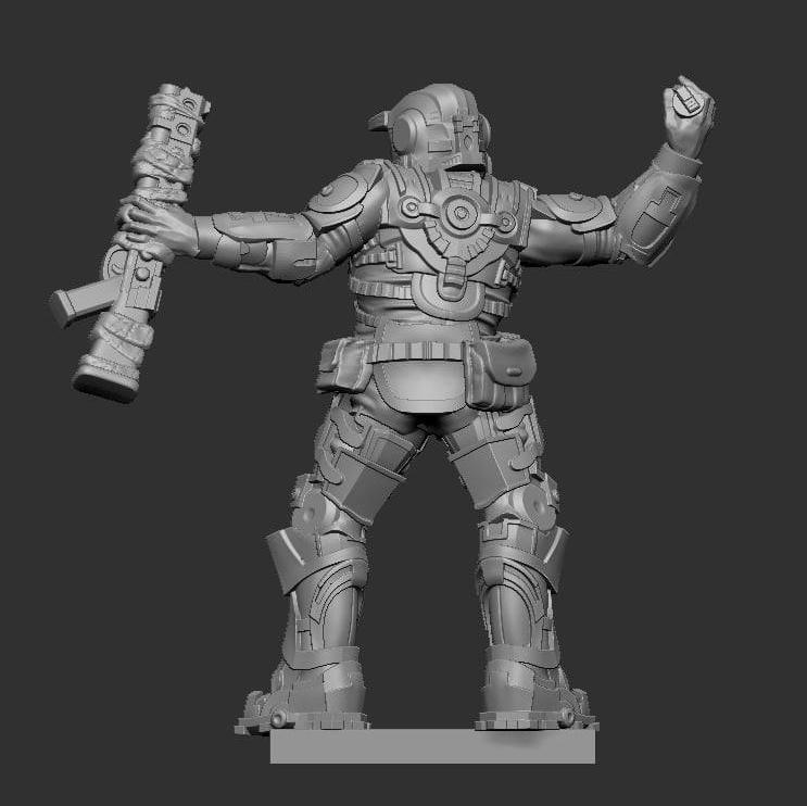 Legions of Steel: Operation Anvil miniature throwing a grenade