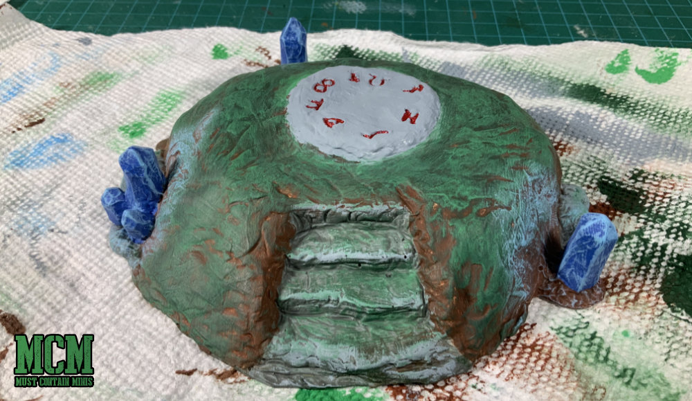 28mm miniature terrain painting summoning circle - WIP