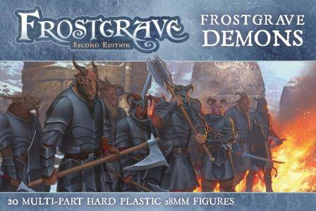 The box art for the Frostgrave Demons plastic miniatures.