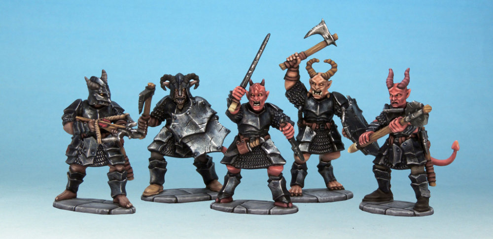 Frostgrave Demons painted and nicely photographed by Kev Dallimore.