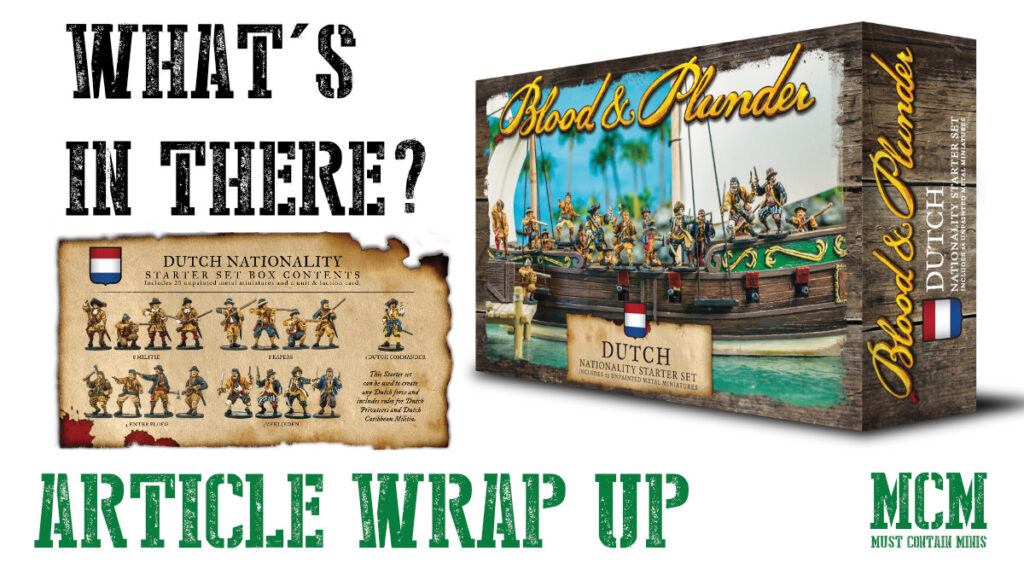 Blood & Plunder Dutch Starter Set unboxing, showcase and discussion