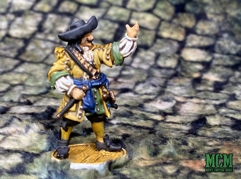 A Painted Dutch Captain for Blood And Plunder by Firelock Games