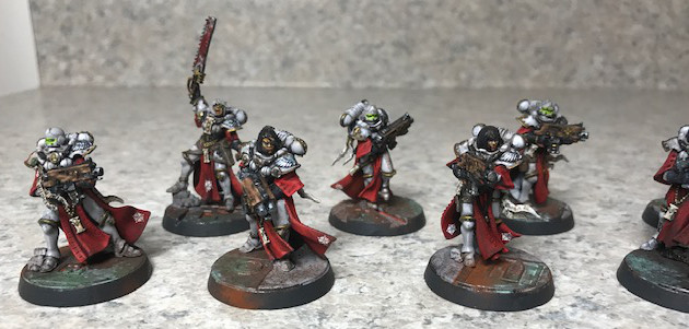 Sisters of Battle Miniatures painted