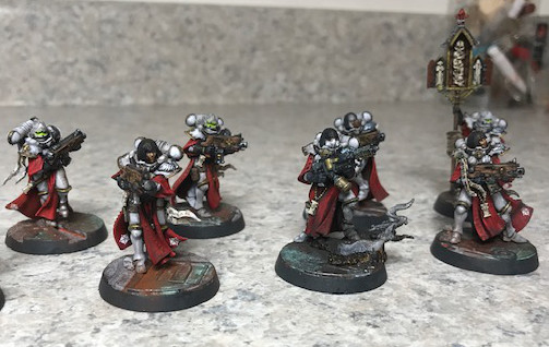 Second half of the Sisters of Battle Miniatures painted