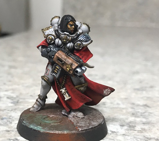 Why not arm one of your sisters with a storm bolter?