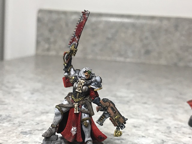 Battle Sister Sargent painted. Full Miniature.