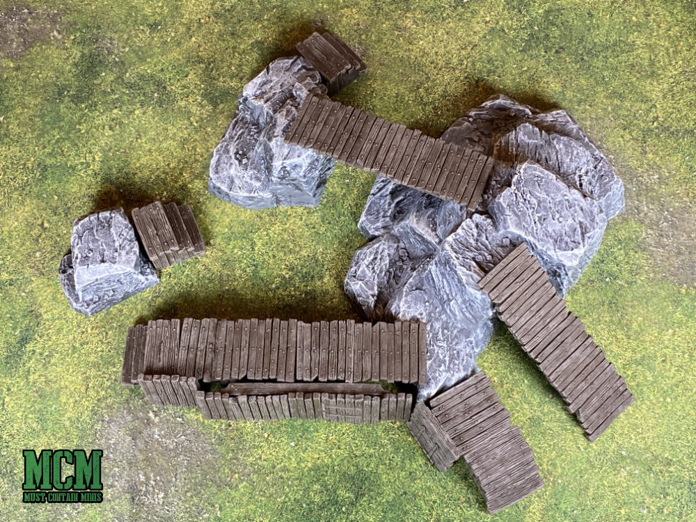 Using two different sets of Monster Fight Club Terrain together.