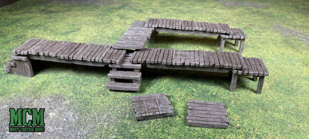 Pre-painted docks for Blood & Plunder