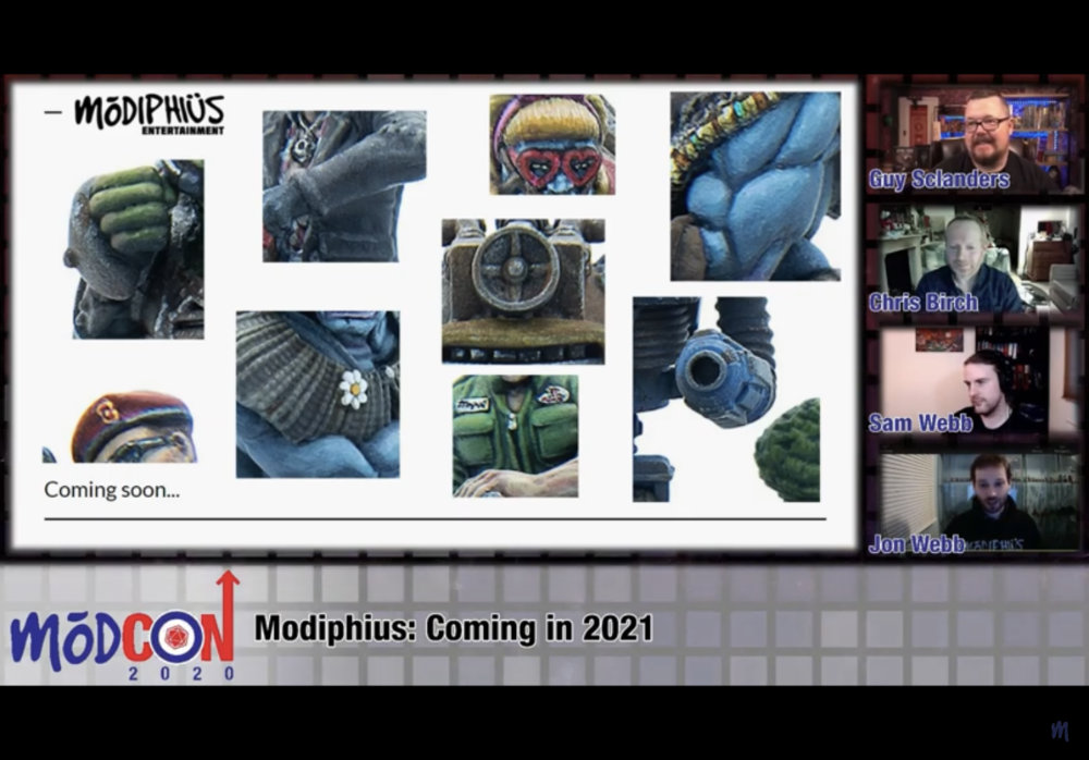 Modiphius in 2021 - a tease of Fallout Miniatures Game items to come.