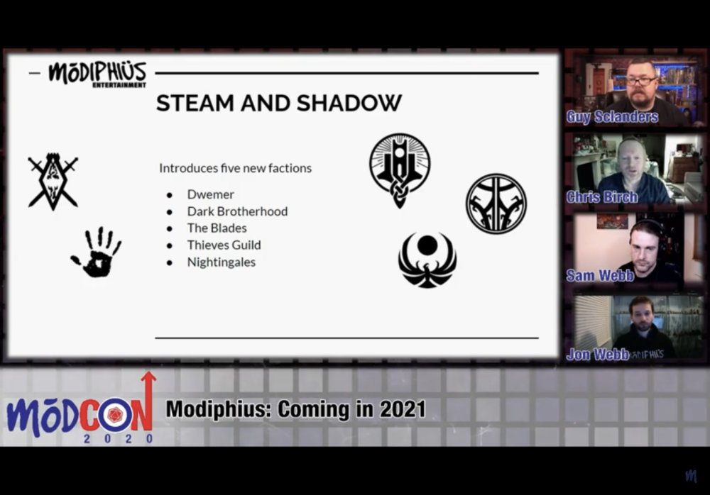 New factions from Modiphius in 2021 for Elder Scrolls