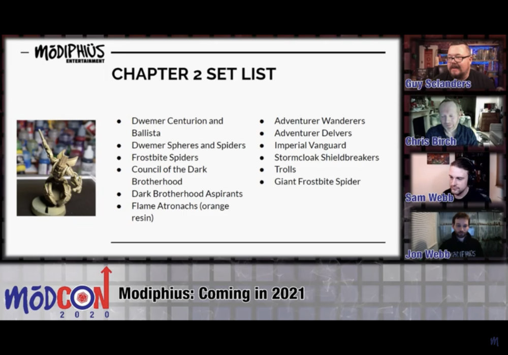 2021 Elder Scrolls miniatures list of upcoming releases - preview