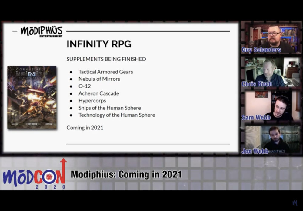 Infinity RPG releases by Modiphius in 2021