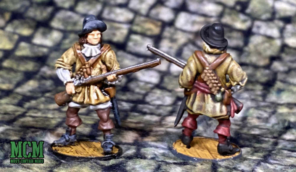 A Blood and Plunder Miniature by Firelock Games on a Cigar Box Battle Mat.