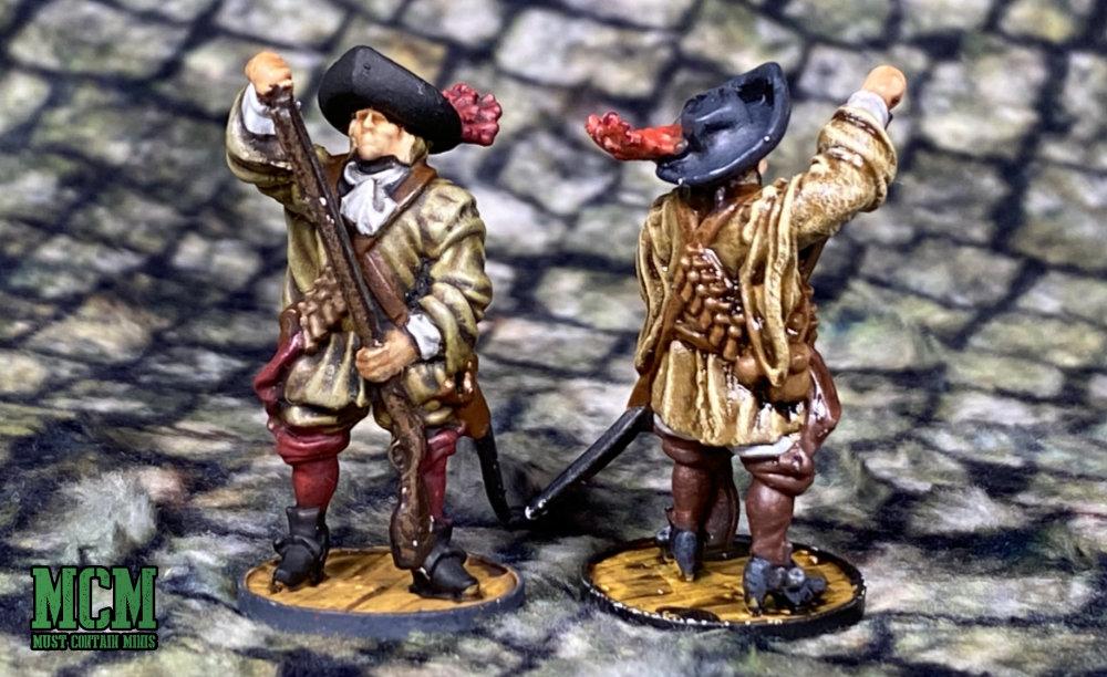 A Dutch Militie miniature loading his musket.